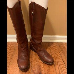 Frye Melissa Button boots in Cognac